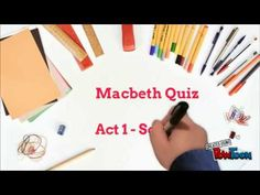 A short quiz, with answers, based on Act Scene 1 of Macbeth. Useful for a quick no prep starter or plenary activity! Gcse English, English Literature, Teaching Secondary, English Grammar Worksheets, Teaching Literature, School Plan, New Classroom, Teaching English, Shakespeare