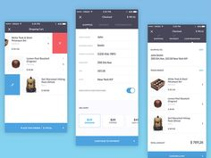The beautifully designed checkout steps from Kauf UI Kit  Check out the attachment to see all the ecommerce app screens that Kauf UI Kit has.