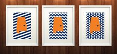 Auburn Alabama State Set of Three Giclée Prints  by PaintedPost, $37.00 - Auburn University - War Eagle - What a great and memorable gift for graduation, sorority, hostess, and best friend gifts! Also perfect for dorm decor! :)