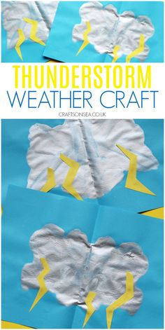 Rain Crafts, K Crafts, Science Crafts, Science For Kids, Crafts For Kids, Weather Activities Preschool, Eyfs Activities, Kindergarten Crafts, Preschool Activities