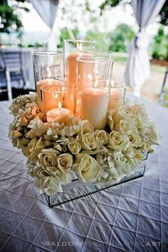 Ideas for candle centrepieces