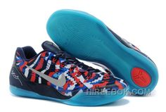 """1c552ae72a4 Nike Kobe 9 EM """"Independence Day"""" White Metallic Silver-Hyper Cobalt-Action  Red Discount"""