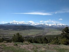 View overlooking Pleasant Valley, Ridgway, Colorado