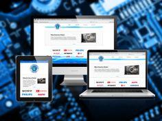 Diseño de sitio web para comercio dedicado al servicio técnico de dispositivos electrónicos.