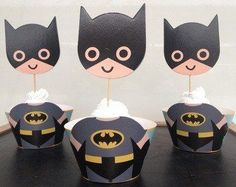 Af Kitchen  Cute Batman Cupcake Wrappers Toppers Decoration for Boys Kids Birthday Party Favors Supplies Comic Superhero -- Check out the image by visiting the link.