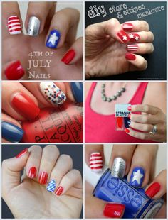 Patriotic Nails Fourth of July nail art design