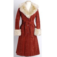 Tie Front Vintage Coat Retro 1970s Penny Lane Made In Spain Almost Famous Faux Fur Women/'s Apparel Cold Weather Suede