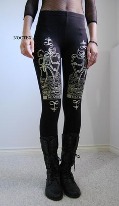 Death Tarot Card Leggings. $42.00, via Etsy.