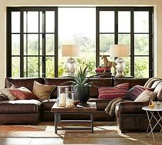 turner roll arm leather 4piece chaise sectional