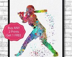 Baseball Softball Catcher Sports Art Print Watercolor Print Girls softball Softball illustration Softball Art Poster Softball Watercolor Kids Room decor Wall Poster Giclee Wall Decor Home Decor Wall Hanging Childrens Birthday Gift Nursery art  This Colorful Baseball Softball Catcher is archival art print of my original watercolor digital illustration.  Here you can see my works of Painted glass: https://www.etsy.com/shop/HandPaintedGlassArtS  ❀ BUY 2, GET 1 FREE!  ❀ LIMITED TIME ONLY  ❀ Buy…