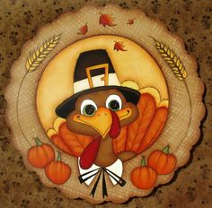 E PATTERN – Turkey Wreath! Sweet Turkey for all of Fall or Thanksgiving – Designed & Painted by Sharon Bond - Thanksgiving Wallpaper Turkey Drawing, Turkey Painting, Autumn Painting, Autumn Art, Rock Painting, Thanksgiving Pictures, Thanksgiving Wallpaper, Thanksgiving Art, Thanksgiving Decorations