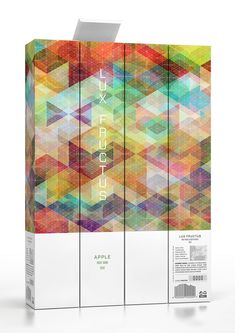 """""""Concept packaging for fruit wine inspired by Simon C. Page's wonderfulCUBEN project. Features patterns design by both Simon C. Page and Marcel Buerkle, visualized on packaging for fruit wine label and box."""""""