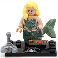 Single Sale Pirates of the caribbean Jack Sparrow Elizabeth Mermaid Minifigures Building Block toys Best children gift
