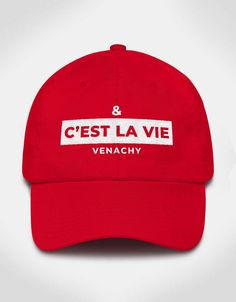 678af236f0f02 Trending C est La Vie Red Dad Hat For Women. VENACHY trending dad hats