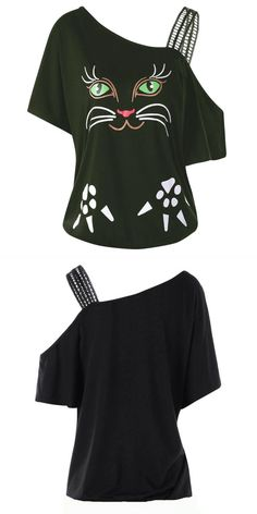 71decfe567fdd8 2018 large size 5xl t shirt women cat printing off shoulder tee shirt short sleeve  tops