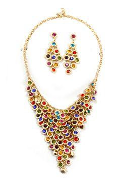 Crystal Eva Statement Necklace | Emma Stine Limited ...drool