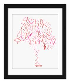 Beautiful Family Free Art created with family names made in minutes online...instant creation and downloading.  Brand new Family Tree Art studio www.familytreeartogy.com.  AWESOMENESS!