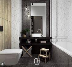 Metalowe konstrukcje we wnętrzach - Mała łazienka na poddaszu w bloku w domu jednorodzinnym bez okna - zdjęcie od Nubo Interior