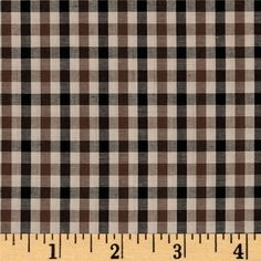 Kaufman Sevenberry Classic Plaids Tan from @fabricdotcom  From Kaufman Fabrics, this very lightweight cotton shirting fabric features a yarn-dyed plaid design. This fabric is great for blouses, dresses, skirts and children's apparel. It can also be used for quilting projects. Colors include brown, tan and black. *Remember to allow extra yardage for pattern matching.
