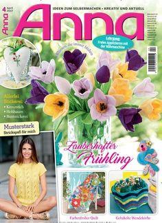 Zauberhafter #Frühling 💐 Farbenfroher #Quilt & gehäkelkte #Wendekörbe  Jetzt in Anna:  #Häkeln #Stricken #Quilting