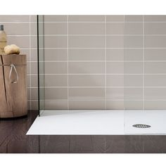 Simpsons White Anti-Slip Textured Slate Effect Shower Tray with Waste - 5 Size options Profile Large