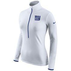 New York Giants Nike Women's Champ Drive Pro Hyperwarm Half-Zip Jacket - White - $74.99