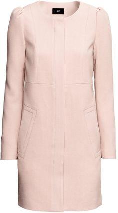 Maje - Boiled Wool Coat - Pastel pink …   Pinterest