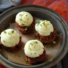 Mini Meatloaf and Mashed Potatoes