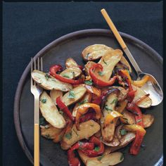 Roasted Fingerlings with Red and Yellow Pipérade