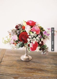 So good - petite red + pink centerpiece   Jessica Burke   CHECK OUT MORE GREAT RED WEDDING IDEAS AT WEDDINGPINS.NET   #weddings #wedding #red #redwedding #thecolorred #events #forweddings #ilovered #purple #fire #bright #hot #love #romance #valentines