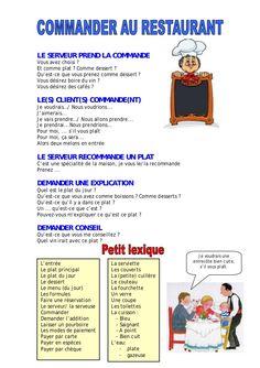 Notre classe de français: Au resto!
