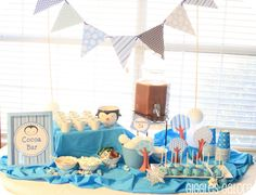 Hot cho-cho bar  Giggles Galore: Penguins & Polar Bears Winter ONEderland {Birthday Party}