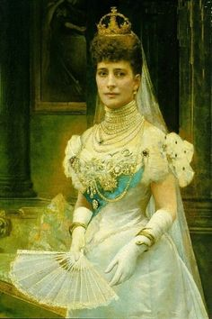 Alexandra, Queen of England. Wife of Edward VII and daughter-in-law of Queen Victoria.