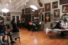 Shawn Barber's tattoo studio