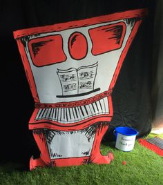 Seussical the musical props scenery piano