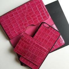 Pink ladys   S1 iphone wallet 6/6plus S2 iphonecase 6/6plus S3 cardholder  #pink #croco #calfskin #iphonewallet #iphonecase #iphonecover #cardholder #cardcase #ladys #techfashion #luxury #accessories #serapaktugleathergoods #serapaktug #cool #lifestyle #fashion #style #hot #deriaksesuarlar #derikılıf #iphonekapak #iphonecüzdan