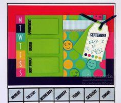 Build a calendar Sarah Hurley design papers