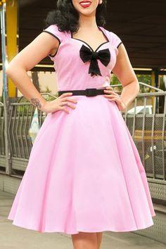 Vintage Sweetheart Neck Sleeveless Bowknot Design Women's Midi DressVintage Dresses | RoseGal.com