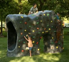 climbing wall and slide!!!