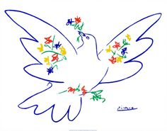 Dove of Peace Print by Pablo Picasso at Art.com