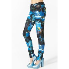 Mermaid Skinny Jeans ($78) found on Polyvore