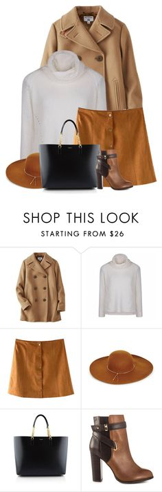 """""""Pea Coat"""" by vering ❤ liked on Polyvore featuring Uniqlo, Ally Fashion, BCBGMAXAZRIA, Yves Saint Laurent and ALDO"""