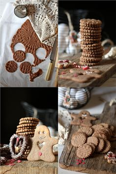 Gingerbread men,  Doily Cookies & Chocolate Pretzels for the Cookie Swap 2013