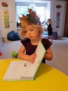 Make a crown of leaves and read The Giving Tree, great activity to do on a cool fall day!