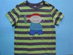 Camiseta con niño pirata por LacasitadeCaperucita en Etsy