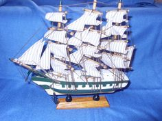 """decorative boat very detailed height approx including stand 9"""" 