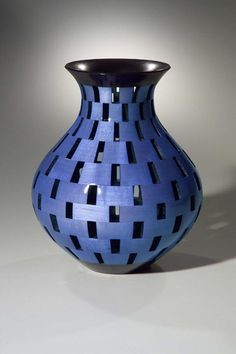 Open Segment Vase :: Woodturned vessel by Wood Artist, Joel Hunnicut http://www.joelhunnicutt.com/page/page/396757.htm Love the periwinkle blue color!