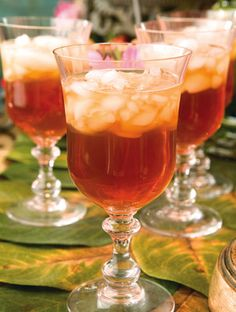 Apple Cider Tea from Southern Lady Mag. A variation on hot tea for those who prefer something cold.