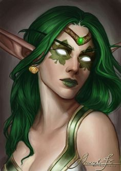 Beautiful Night Elf artwork, not mine and credit to artist