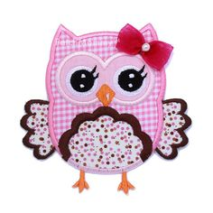 Hey, I found this really awesome Etsy listing at http://www.etsy.com/listing/130191287/pink-polkadot-owl-iron-on-applique-patch